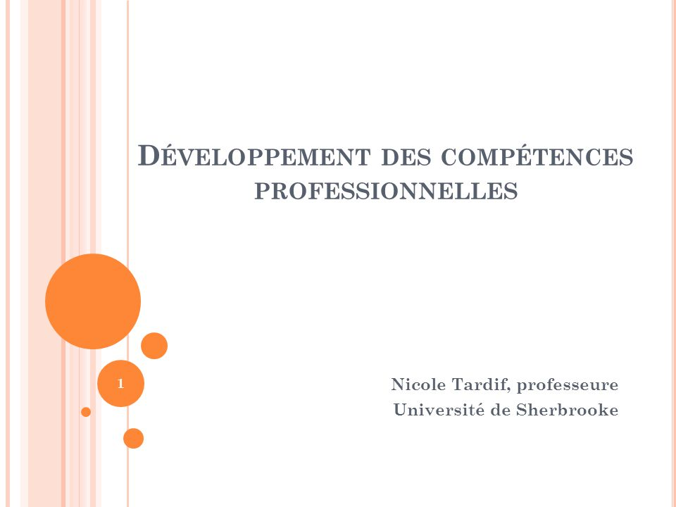 Développement des compétences professionnelles