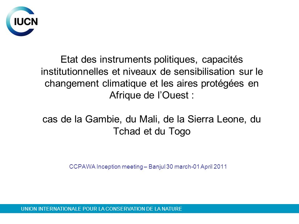 CCPAWA Inception meeting – Banjul 30 march-01 April 2011