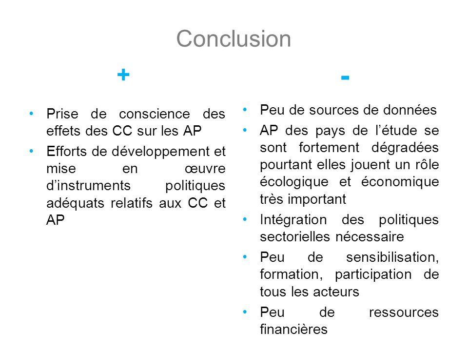 - Conclusion + Peu de sources de données