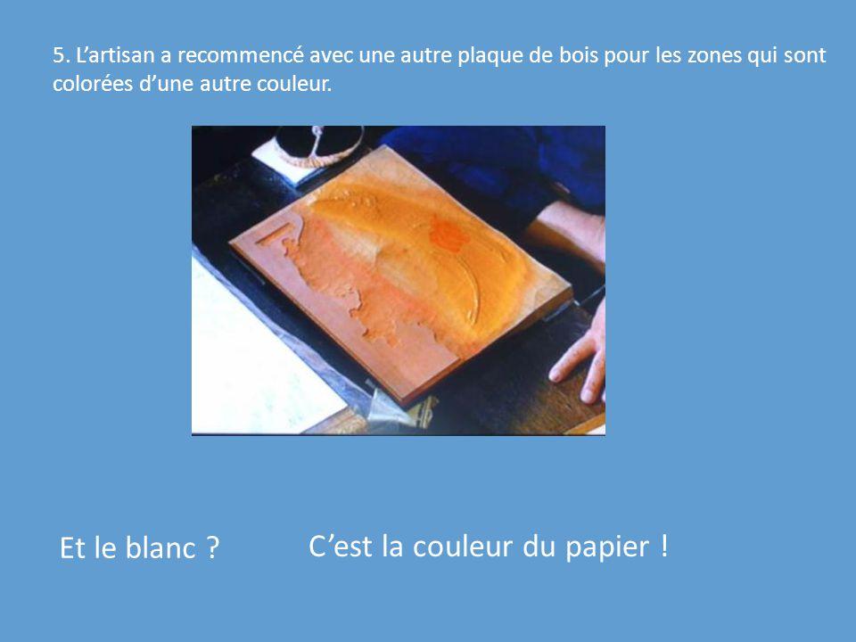 C'est la couleur du papier !