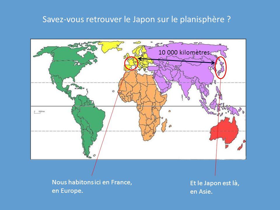 Savez-vous retrouver le Japon sur le planisphère