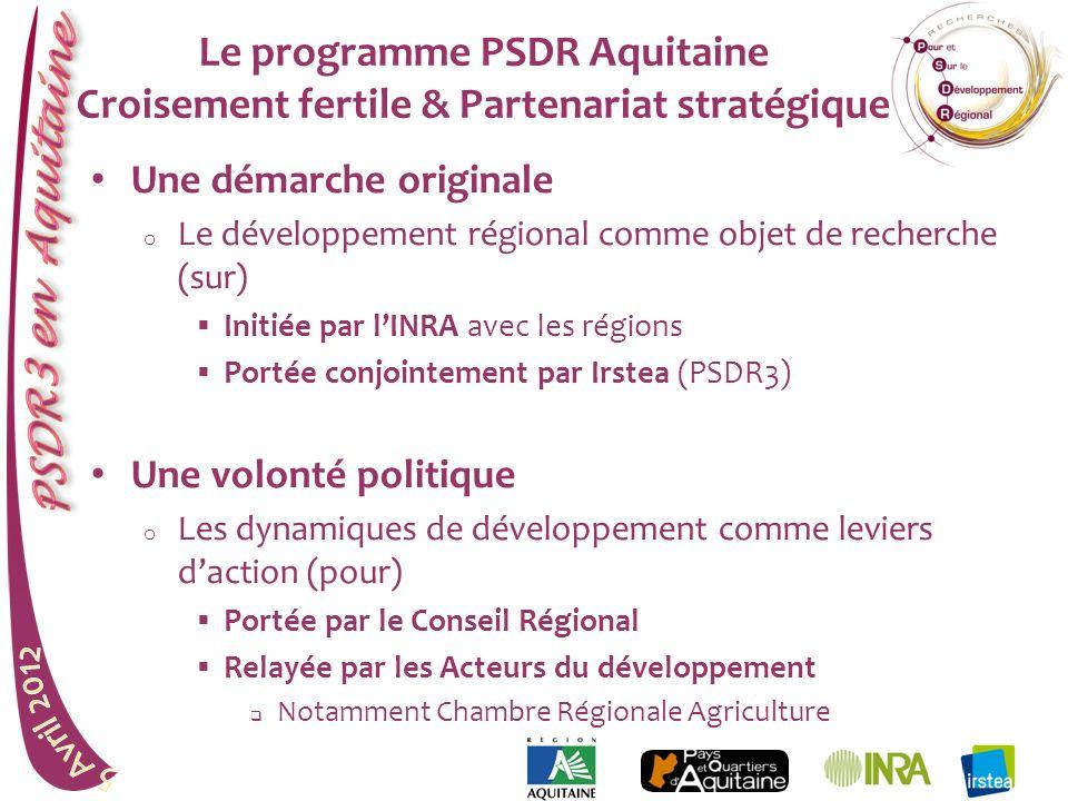 Le programme PSDR Aquitaine Croisement fertile & Partenariat stratégique