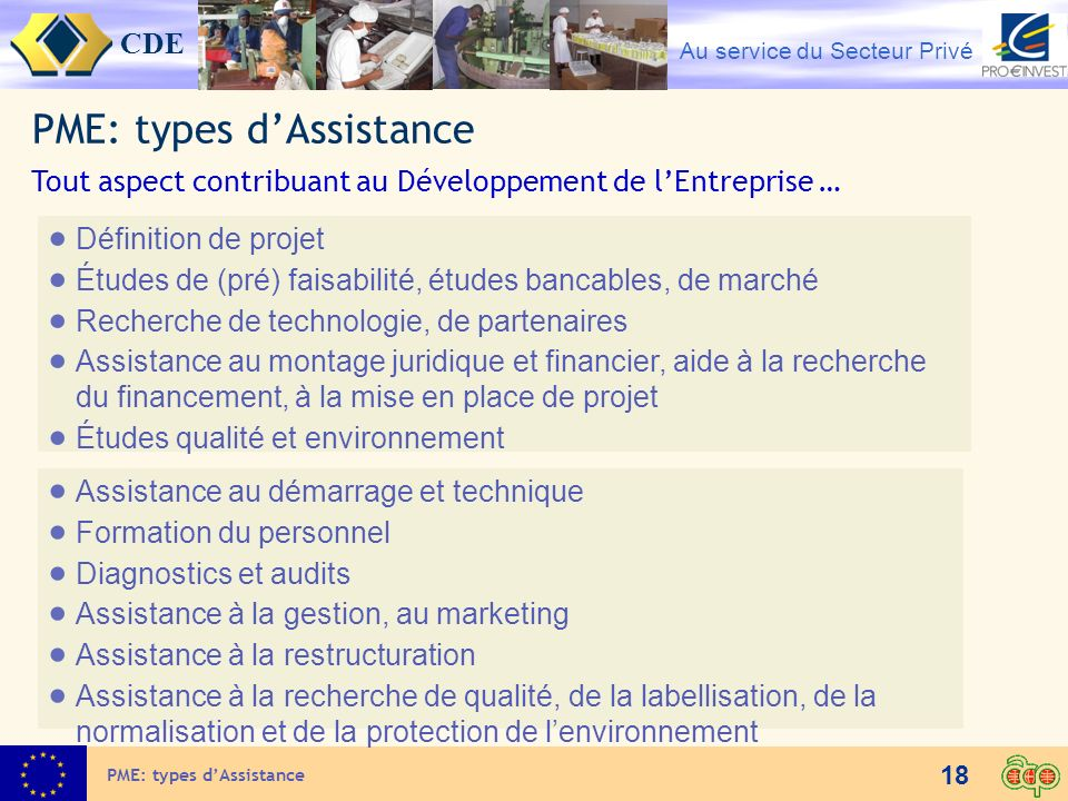 PME: types d'Assistance