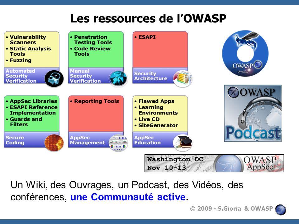 Les ressources de l'OWASP