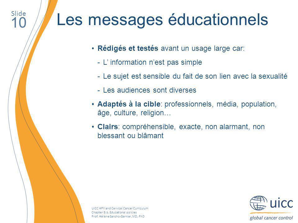 Les messages éducationnels