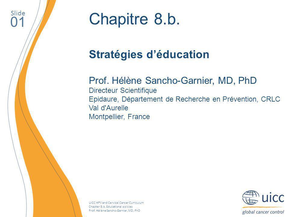 Chapitre 8.b. 01 Stratégies d'éducation