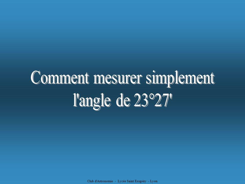 Comment mesurer simplement l angle de 23°27