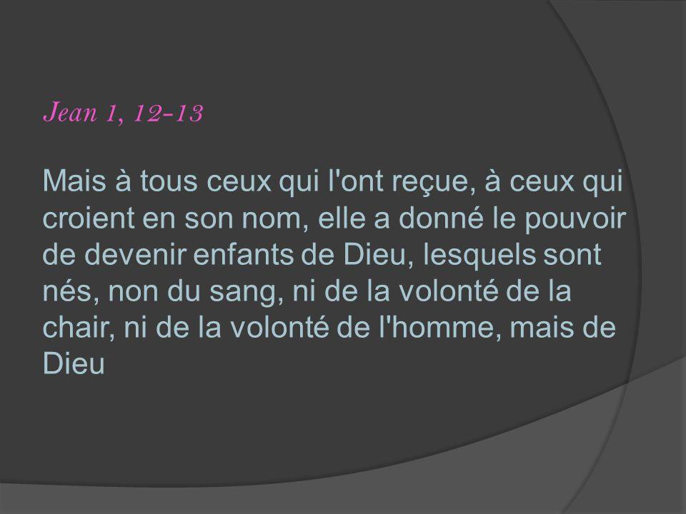 Jean 1, 12-13
