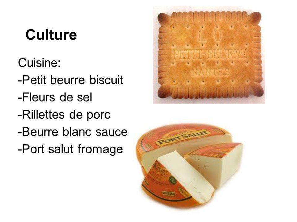 Culture Cuisine: -Petit beurre biscuit -Fleurs de sel