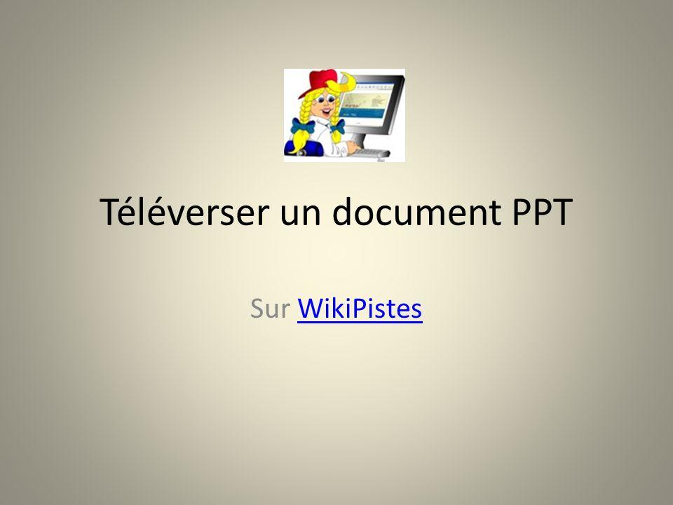 Téléverser un document PPT