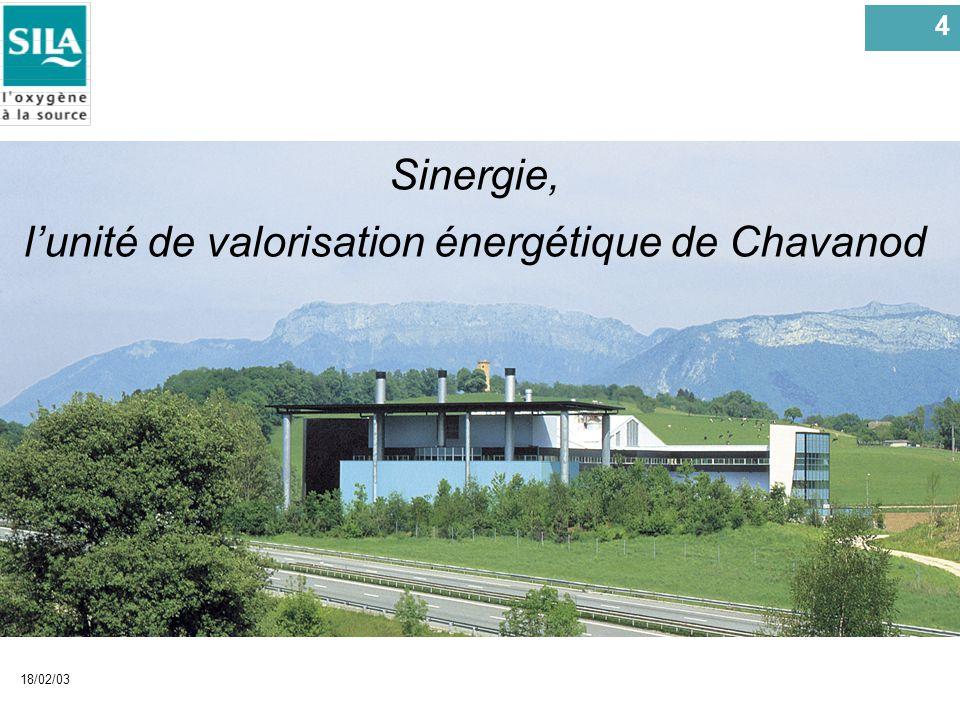 l'unité de valorisation énergétique de Chavanod