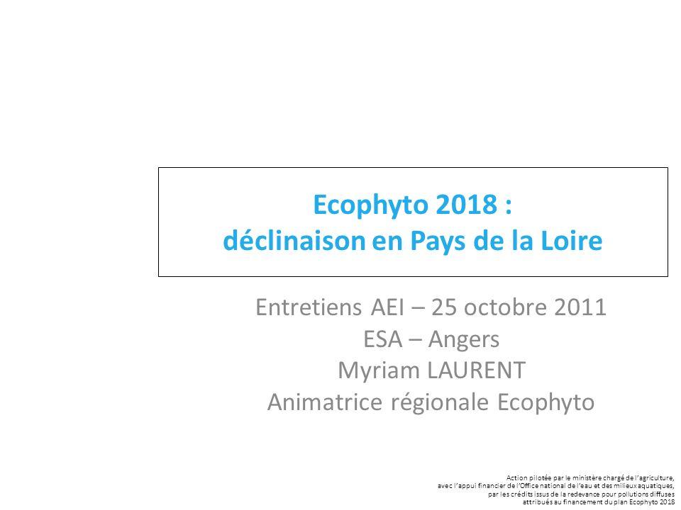 Ecophyto 2018 : déclinaison en Pays de la Loire