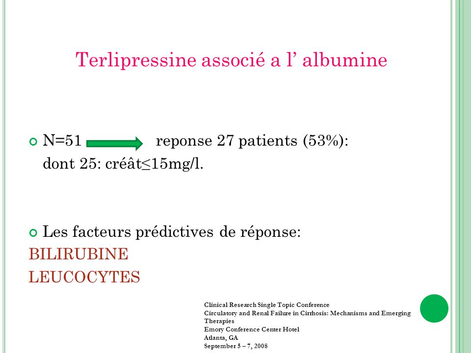 Terlipressine associé a l' albumine