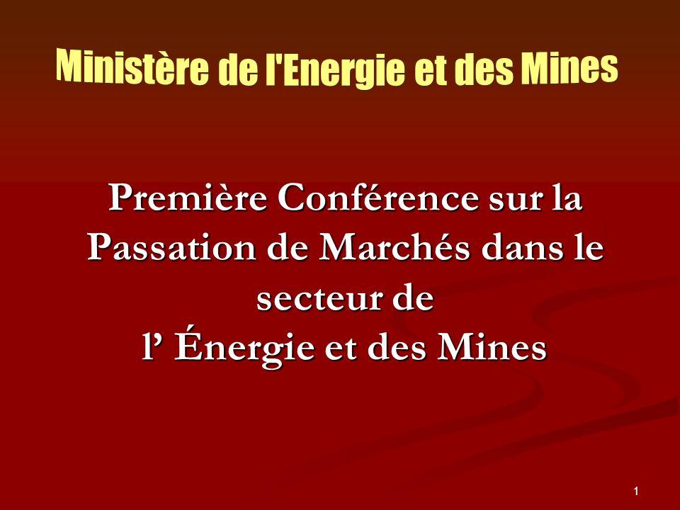 Ministère de l Energie et des Mines