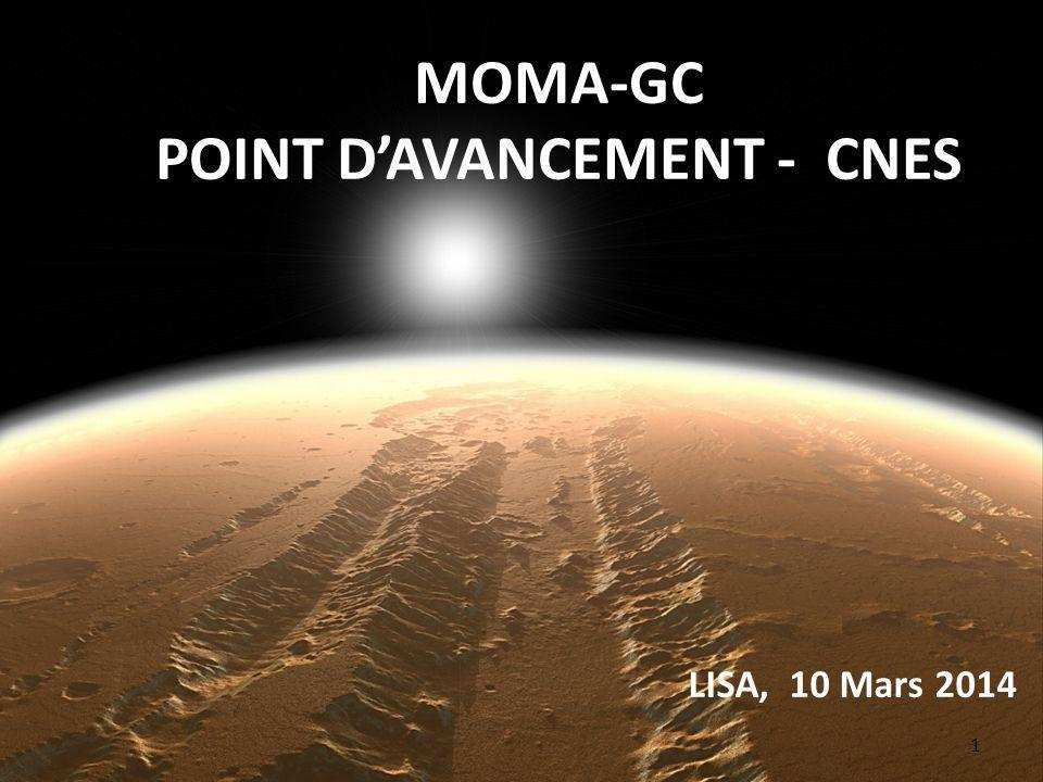 POINT D'AVANCEMENT - CNES