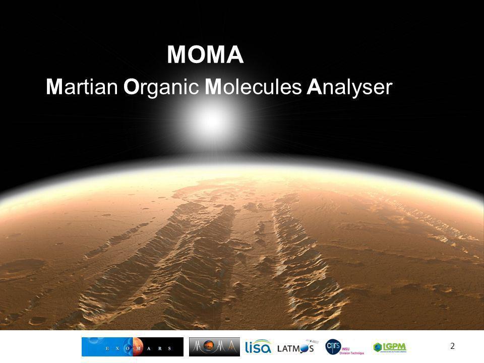 MOMA Martian Organic Molecules Analyser
