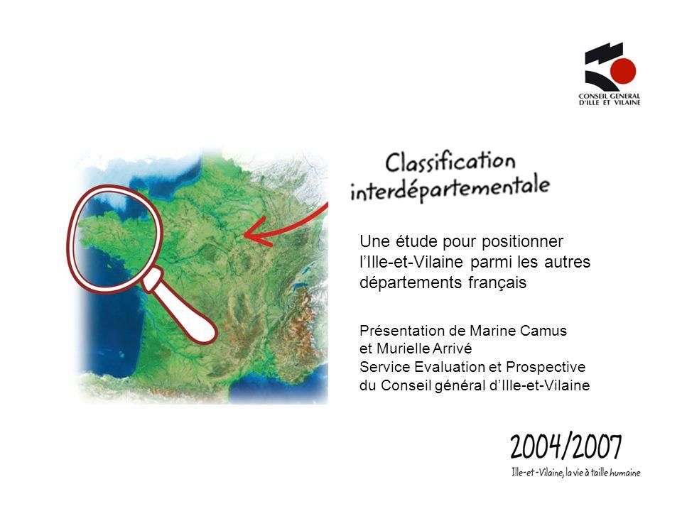 Une étude pour positionner l'Ille-et-Vilaine parmi les autres départements français