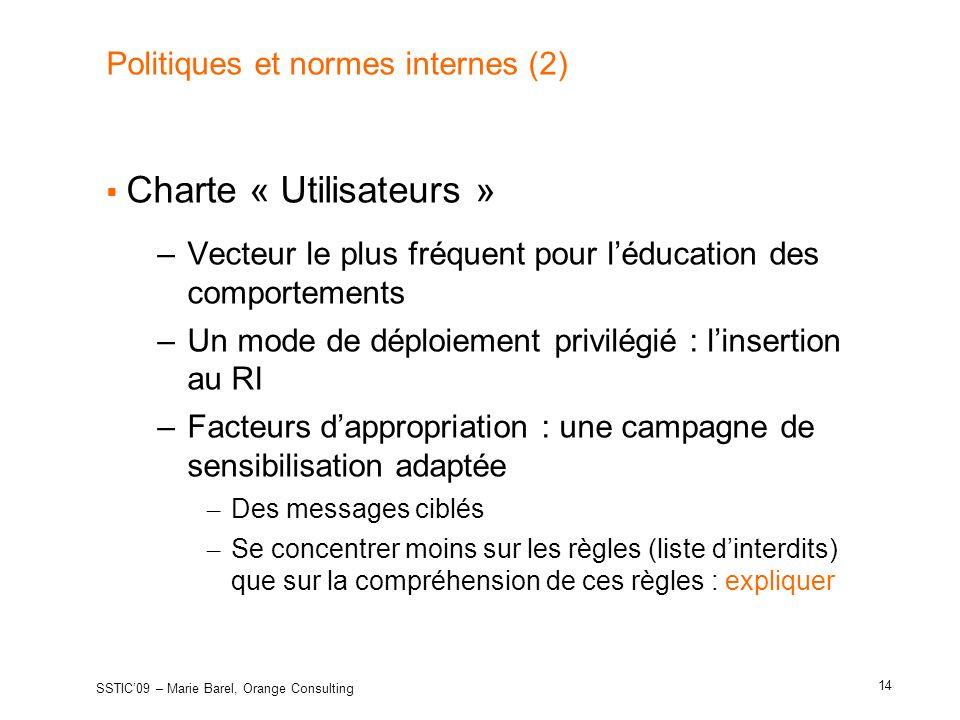 Politiques et normes internes (2)