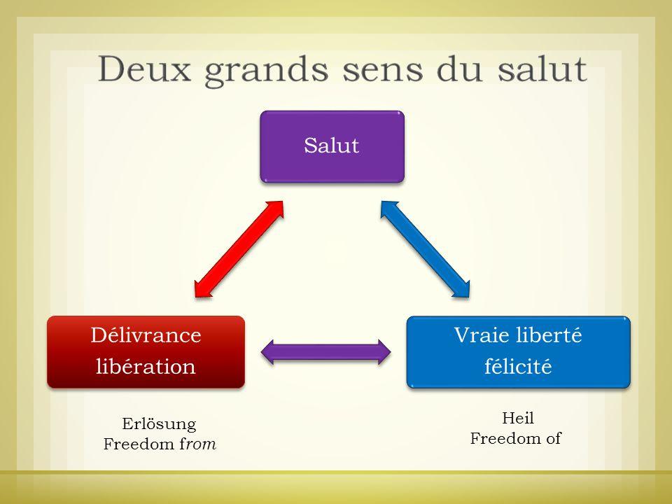 Heil Erlösung Freedom of Freedom from Salut Vraie liberté félicité