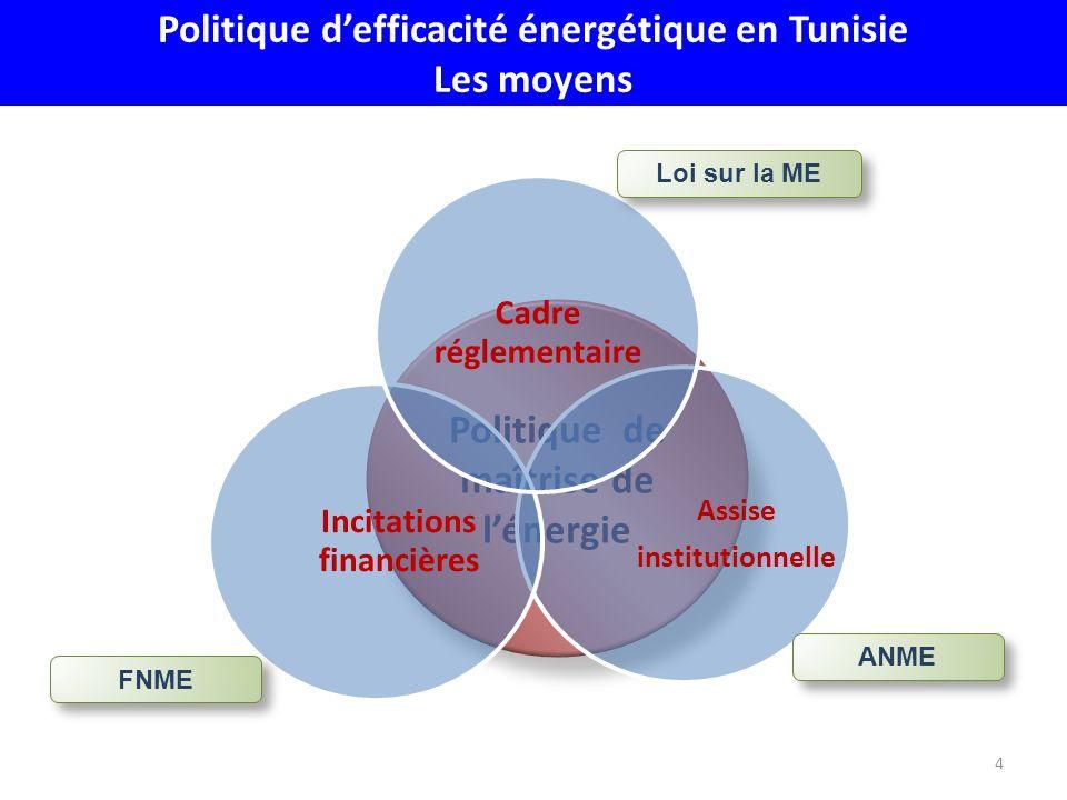 Politique d'efficacité énergétique en Tunisie Les moyens