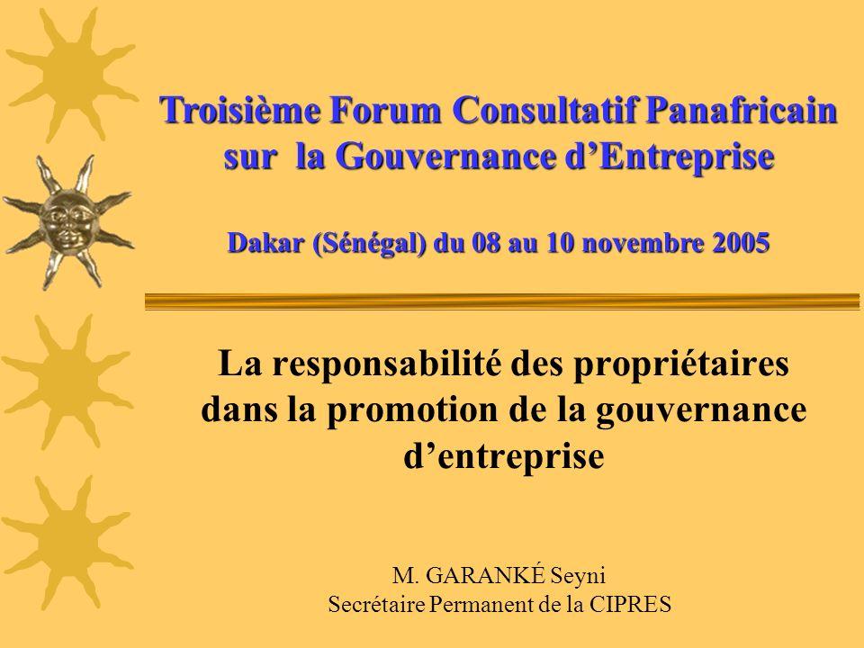 Troisième Forum Consultatif Panafricain