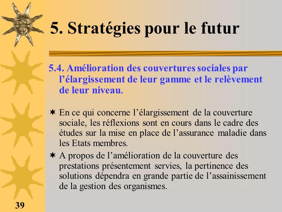 5. Stratégies pour le futur