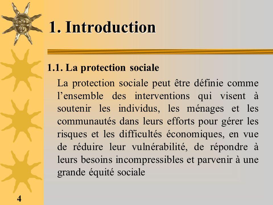 1. Introduction 1.1. La protection sociale