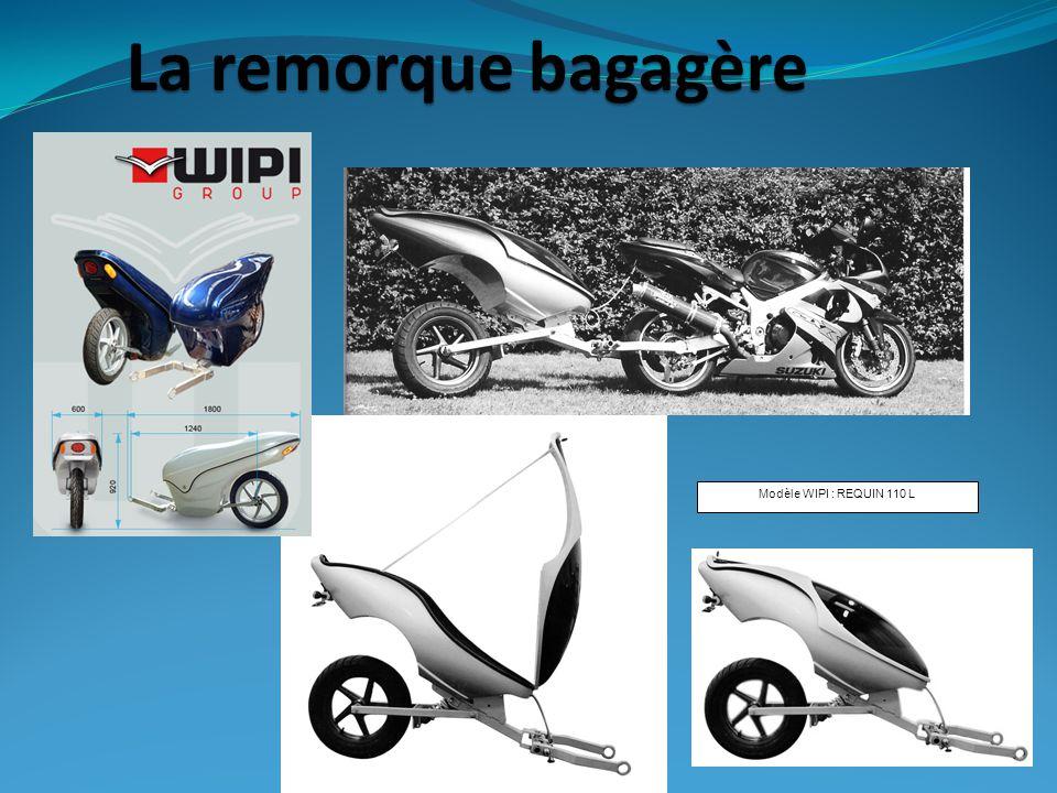 La remorque bagagère Modèle WIPI : REQUIN 110 L