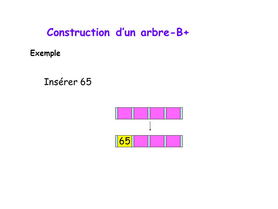 Construction d'un arbre-B+