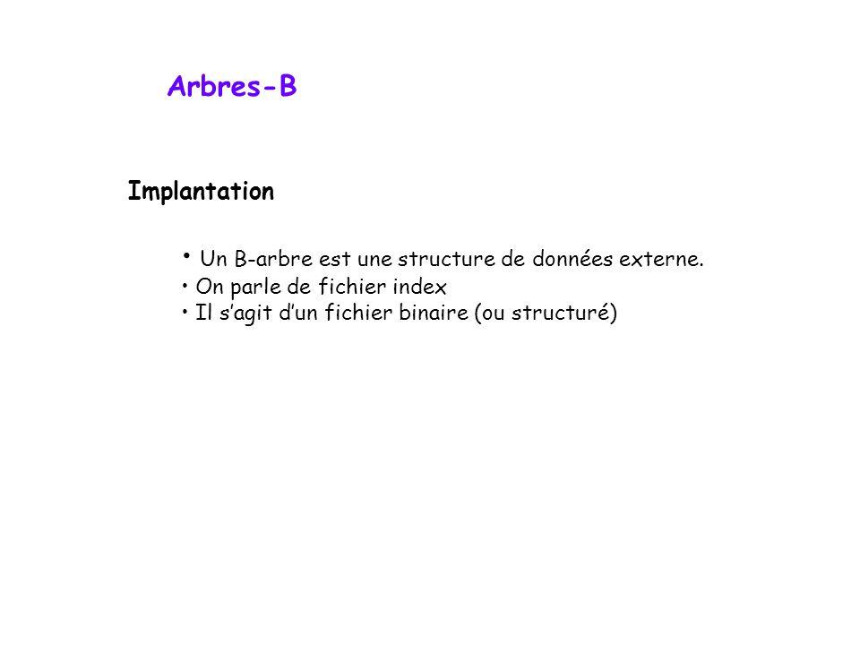 Un B-arbre est une structure de données externe.