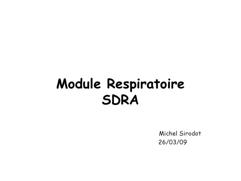 Module Respiratoire SDRA