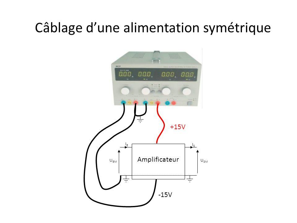 Câblage d'une alimentation symétrique