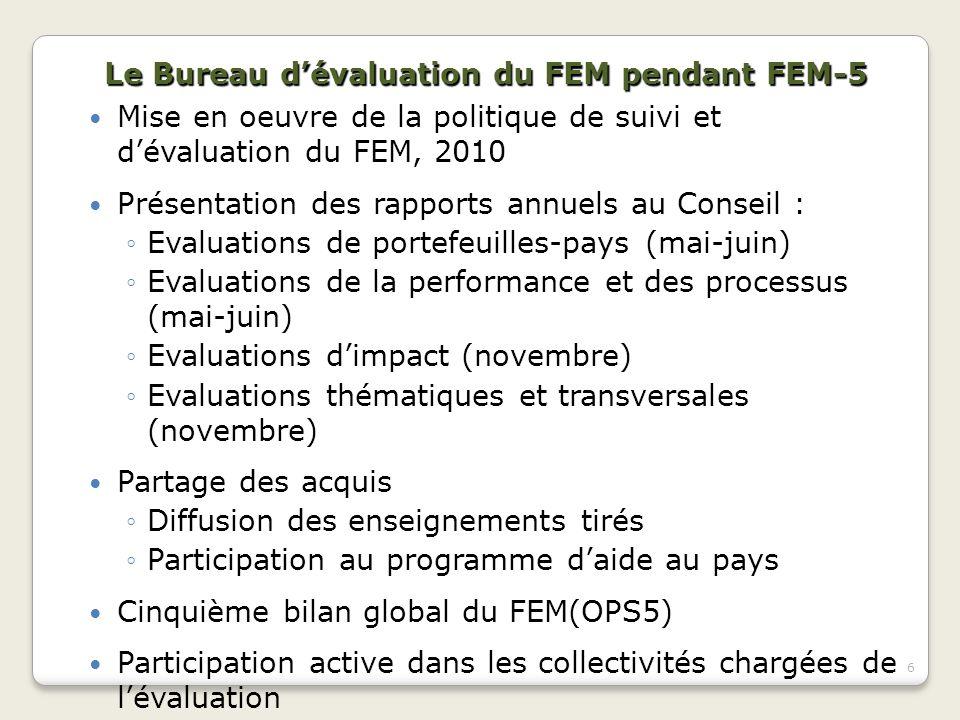 Le Bureau d'évaluation du FEM pendant FEM-5