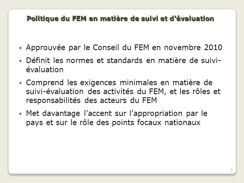 Approuvée par le Conseil du FEM en novembre 2010