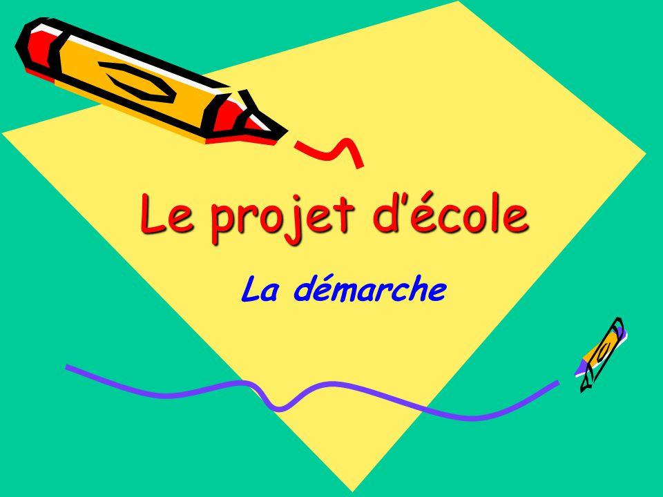 Le projet d'école La démarche