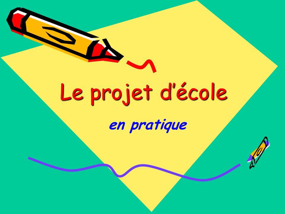 Le projet d'école en pratique