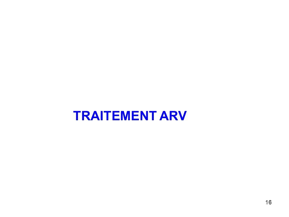 TRAITEMENT ARV