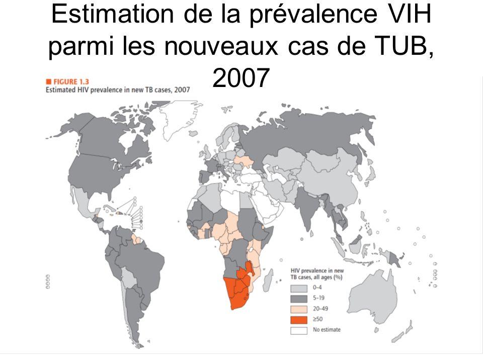 Estimation de la prévalence VIH parmi les nouveaux cas de TUB, 2007