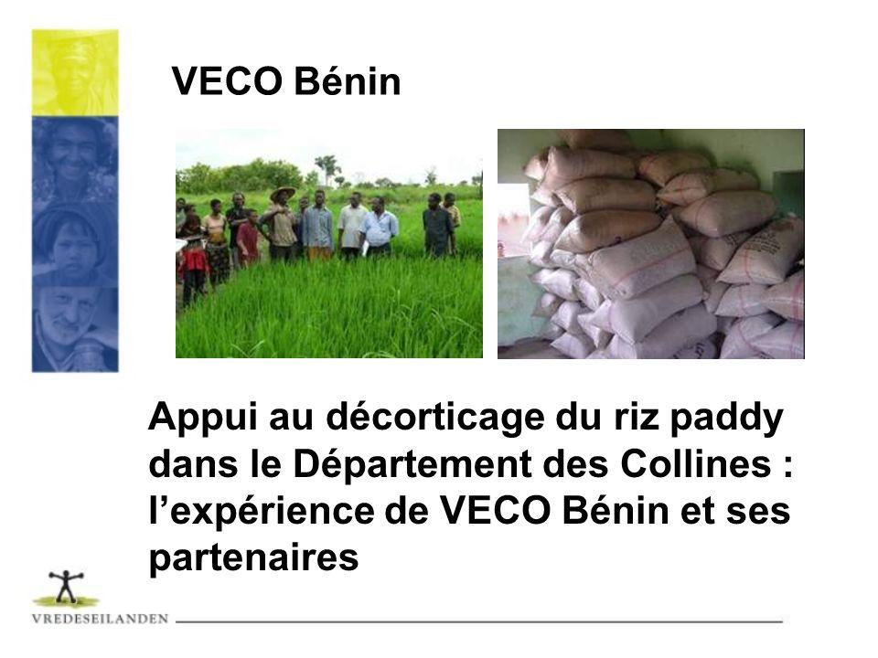 VECO BéninAppui au décorticage du riz paddy dans le Département des Collines : l'expérience de VECO Bénin et ses partenaires.