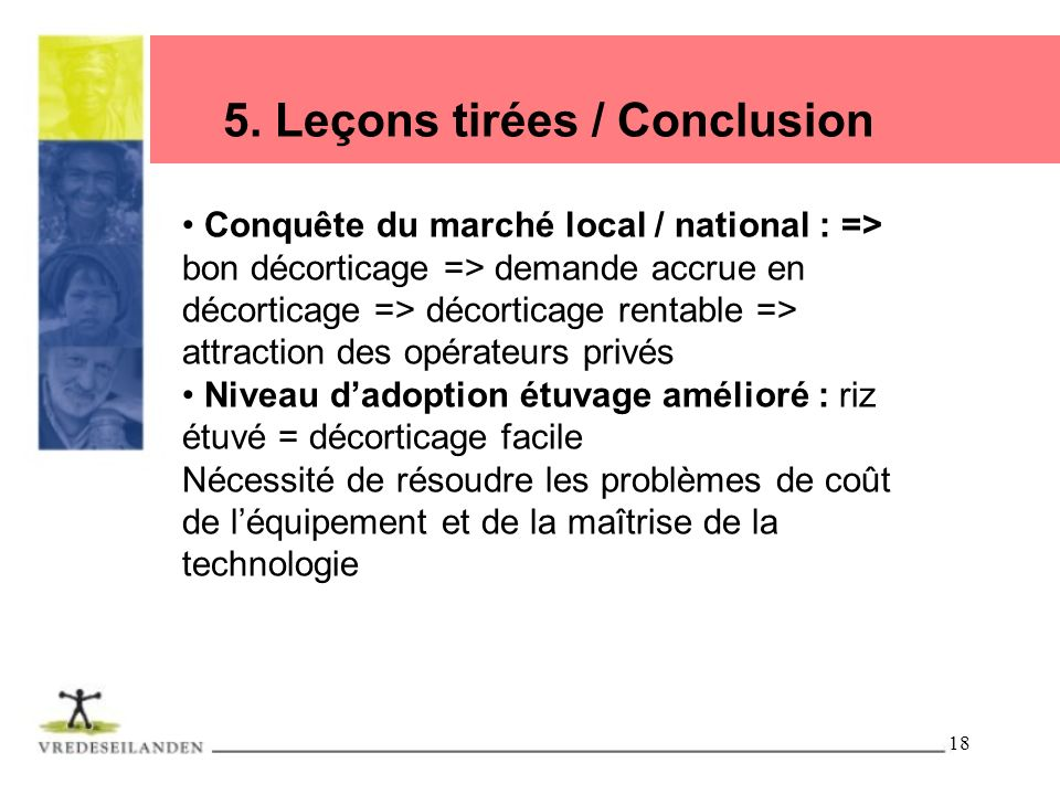 5. Leçons tirées / Conclusion