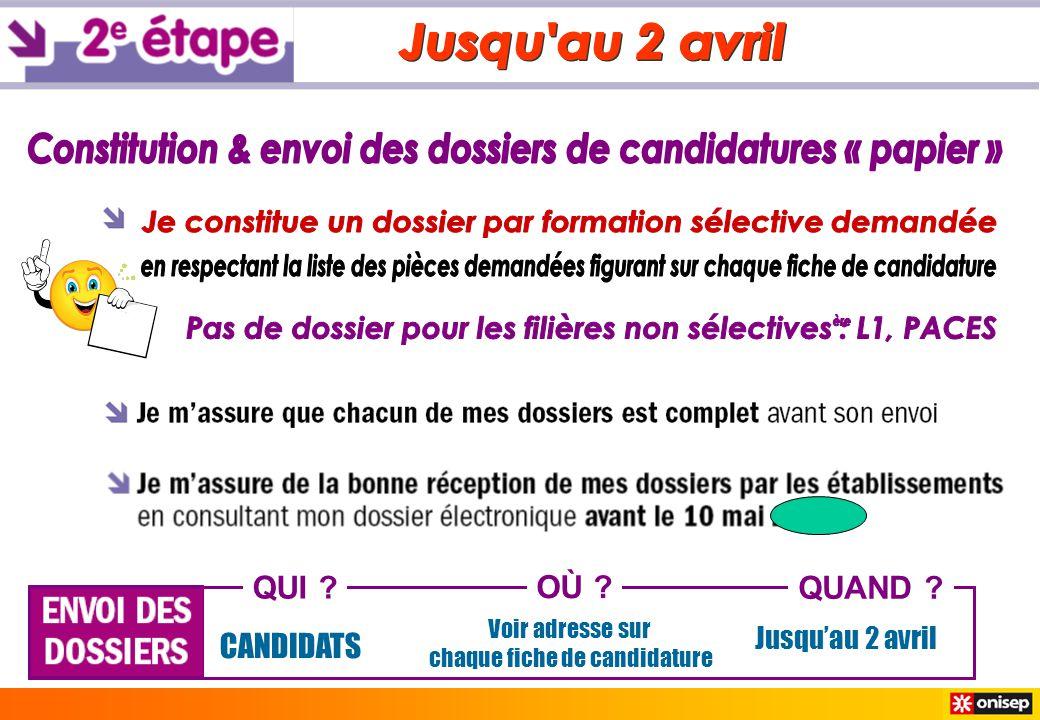 Constitution & envoi des dossiers de candidatures « papier »