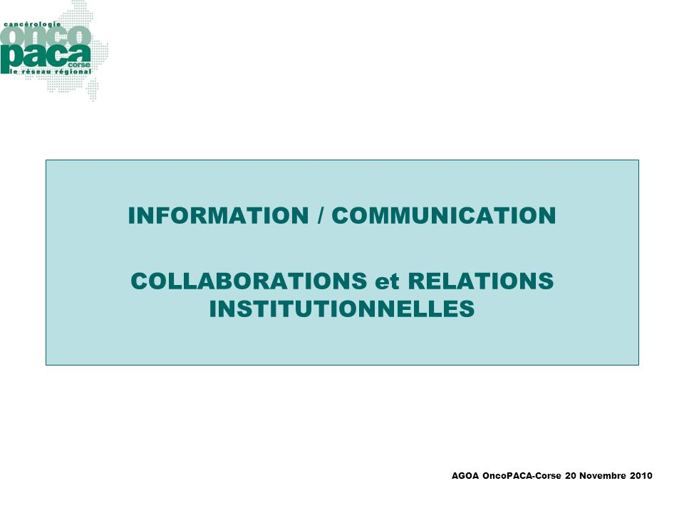 INFORMATION / COMMUNICATION