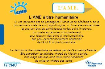 L'AME à titre humanitaire
