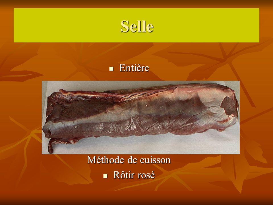 Selle Entière Méthode de cuisson Rôtir rosé