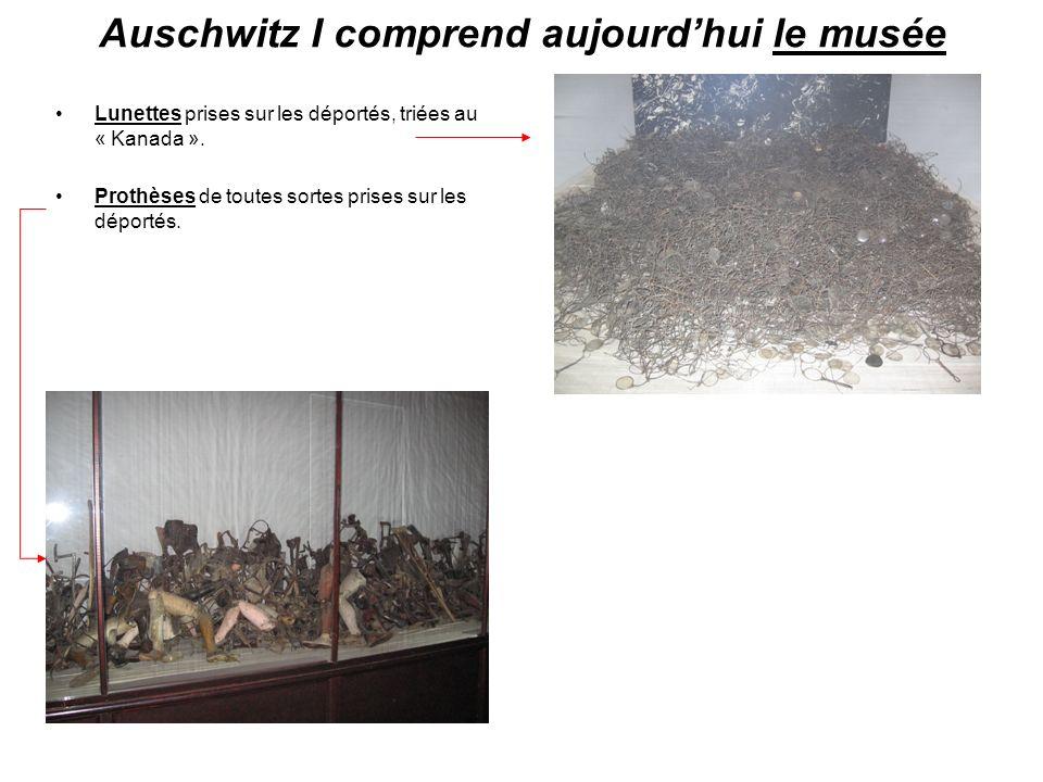 Auschwitz I comprend aujourd'hui le musée