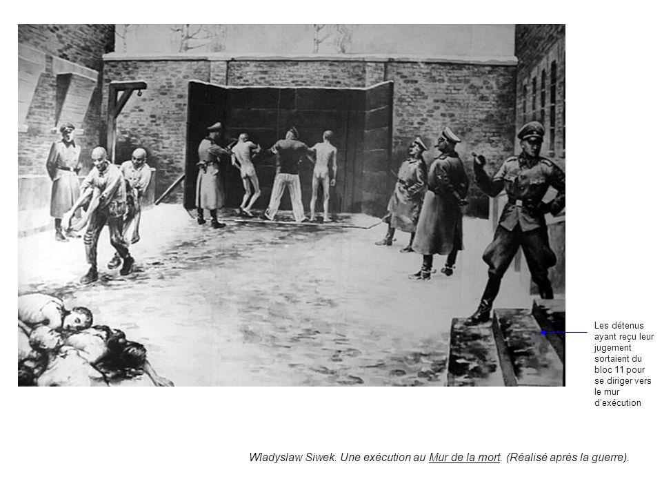 Les détenus ayant reçu leur jugement sortaient du bloc 11 pour se diriger vers le mur d'exécution