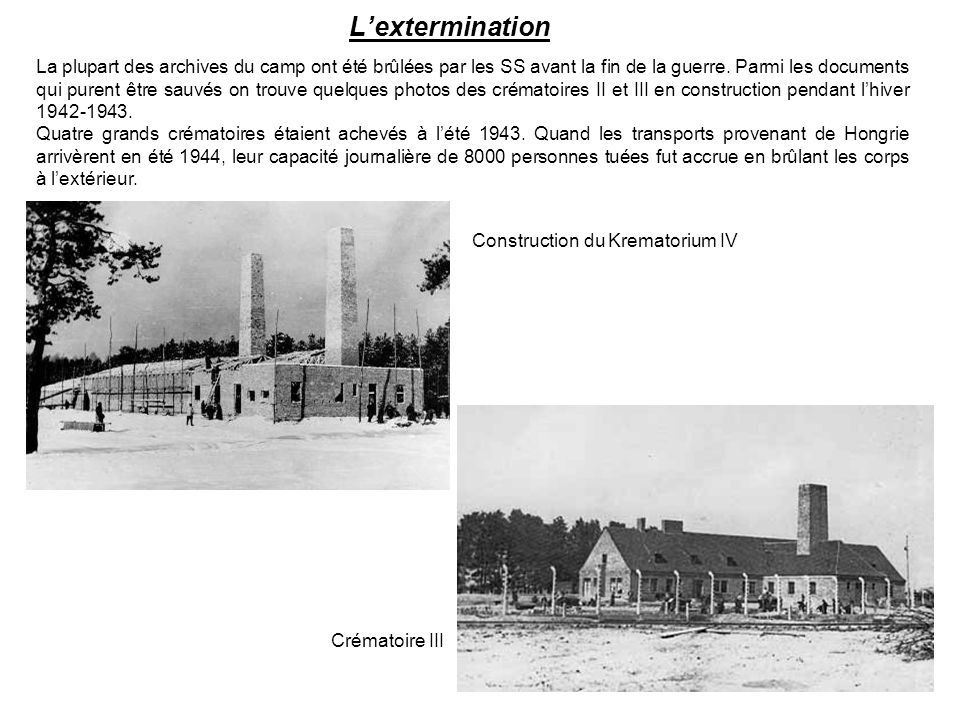 Construction du Krematorium IV