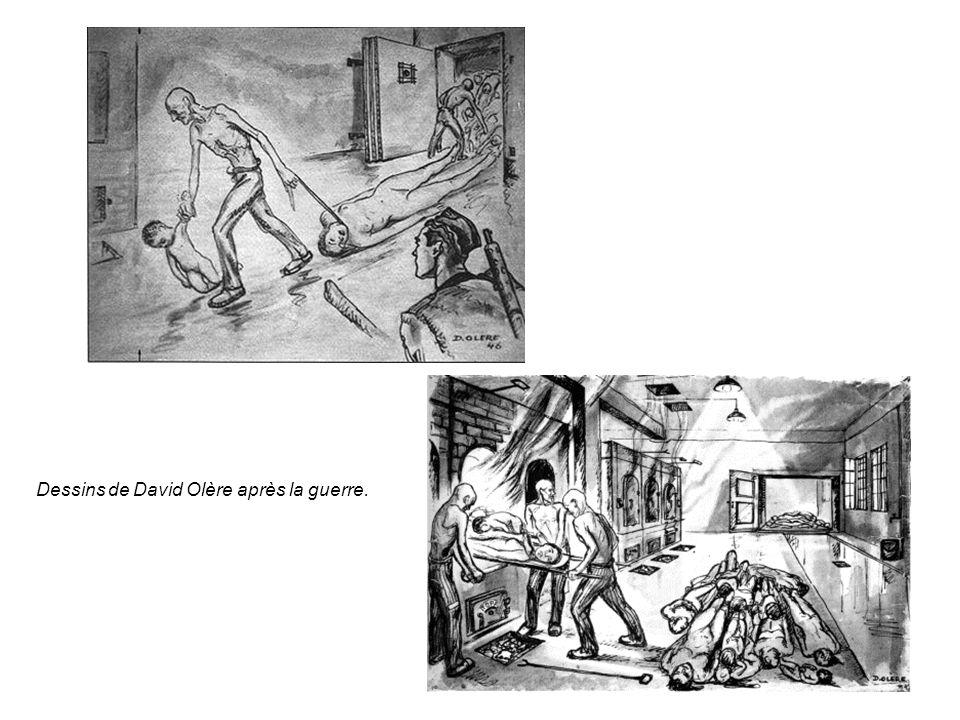 Dessins de David Olère après la guerre.