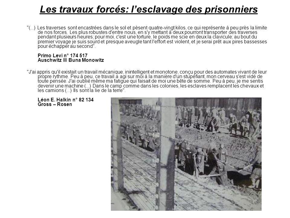 Les travaux forcés: l'esclavage des prisonniers