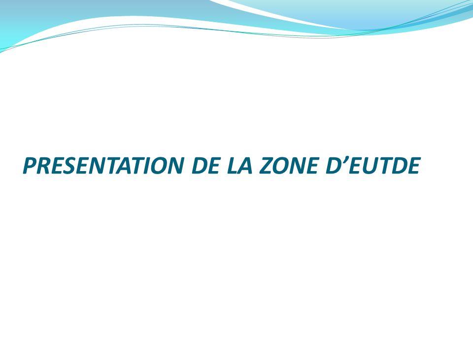 PRESENTATION DE LA ZONE D'EUTDE